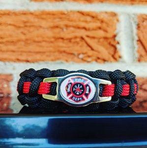 Jewelry - Firefighter Paracord Bracelet